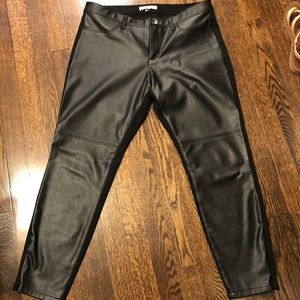 Banana Republic faux leather pants